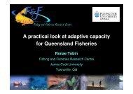 Dr Renae Tobin's presentation slides - Climate Change Fishing