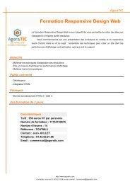Formation Responsive Design Web - AgoraTIC