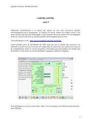Présentation de logiciels de lecture au cycle 3