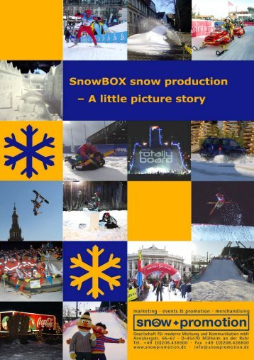 Snow production with the SnowBOX - Snow+Promotion