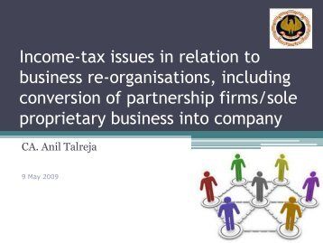 Income-tax issues in relation to business re-organisations