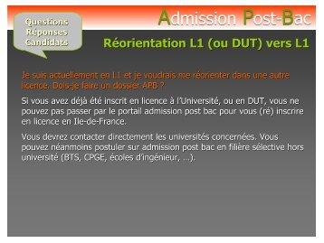 APB questions - réponses - Lycée Christophe Colomb