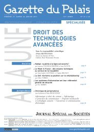 DROIT DES TECHNOLOGIES AVANCÉES - Cabinet Alain ...