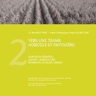 vers une trame agricole et paysagère - Paysage et urbanisme durable