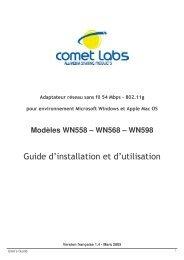Guide d'installation et d'utilisation - Comet Labs