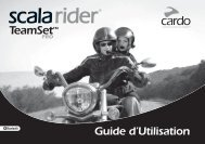 Guide d'Utilisation - Cardo Systems, Inc