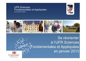 Se réorienter à la Faculté des Sciences en janvier 2013 [Mode de ...