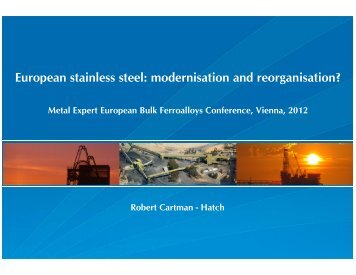 European stainless steel: modernisation and reorganisation? - Hatch