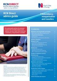 RCN Direct advice guide