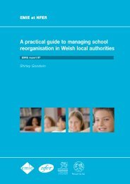 A practical guide to managing school reorganisation in - National ...