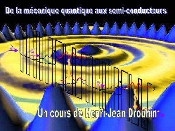 de la mecanique quantique aux semi-conducteurs