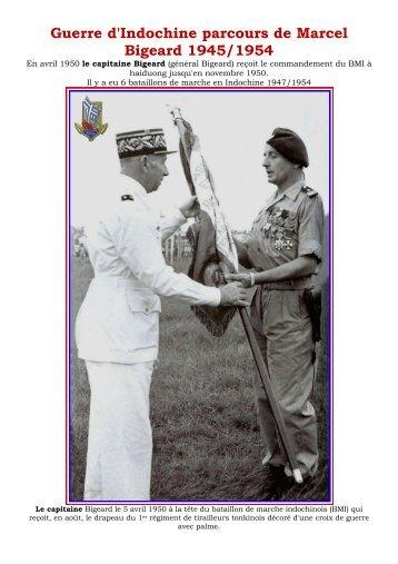 Guerre d'Indochine parcours de Marcel Bigeard 1945/1954