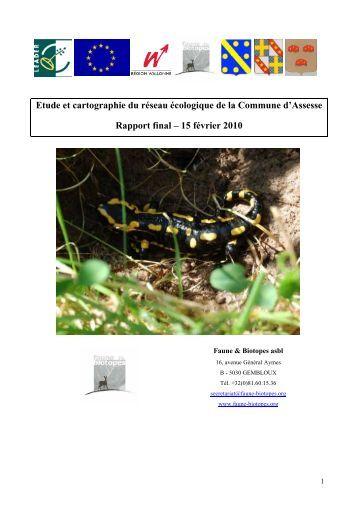 Rapport final Etude de réseau écologique d ... - Tiges et chavées