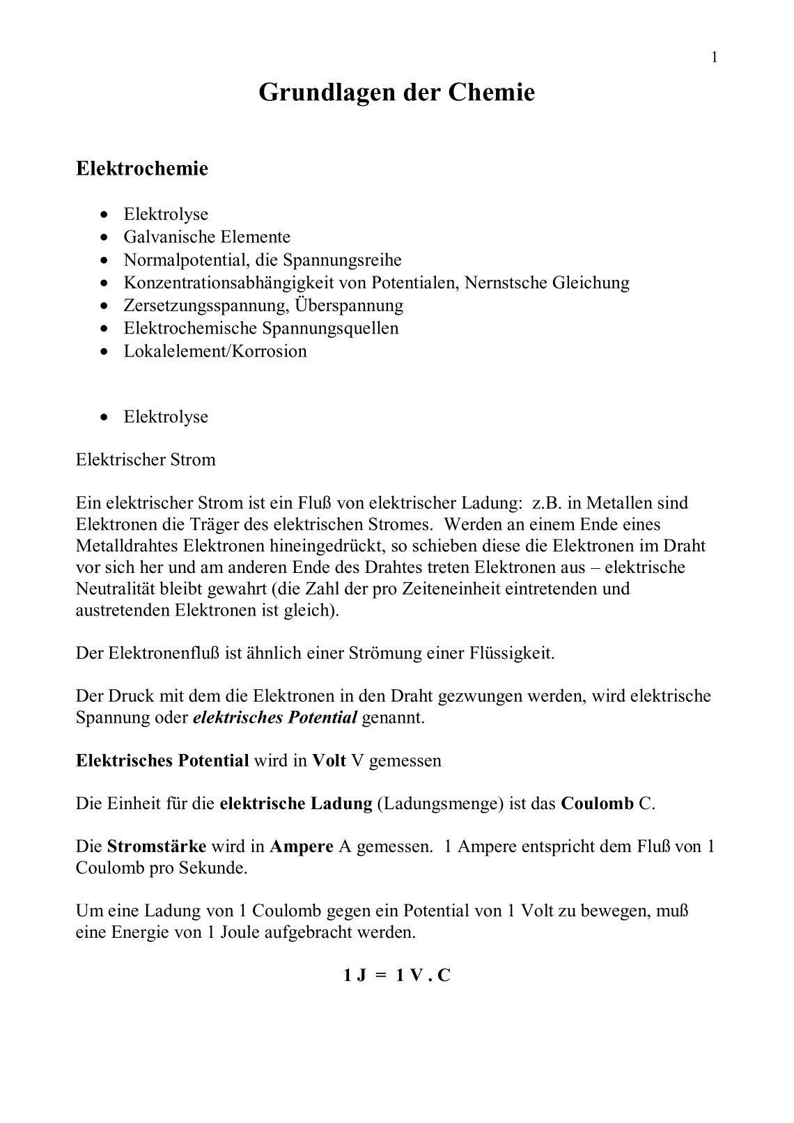 Fantastisch Stromstärke Von Draht Ideen - Elektrische Schaltplan ...