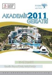 25-29 Mayıs 2011 - Akademik Geriatri Derneği