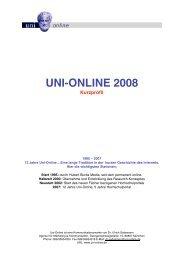 UNI-ONLINE 2008 Kurzprofil