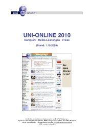 Kurzprofil - Uni-Online