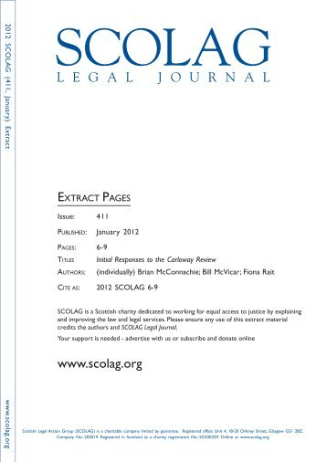 a download of this article - Scottish Legal Action Group