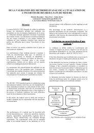 DE LA VALIDATION DES METHODES D'ANALYSE A L ... - LNE