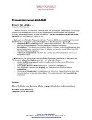 Presseinformation 23.5.2006 Eltern für LilaLu ... - Uni-Online