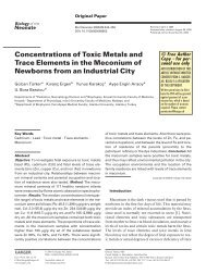 Concentrations of Toxic Metals and Trace Elements in the ...