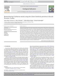 Biomonitoring of airborne metals using the Lichen Xanthoria ...