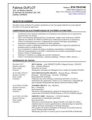 exemple de cv informaticien pdf