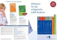 ESVbasics für das erfolgreiche JURA-Studium - Uni-Online