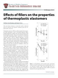 Effects of fillers on the properties of thermoplastic elastomers