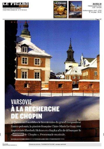 varsovie-* à la recherche de chopin - Mamaison Hotels & Residences