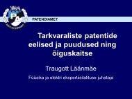 Tarkvarapatentide eelised ja puudused ning ... - Patendiamet