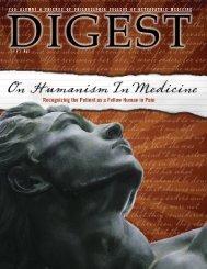 digest 2007 no. 2 - Philadelphia College of Osteopathic Medicine