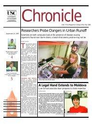 Researchers Probe Dangers in Urban Runoff - University of ...