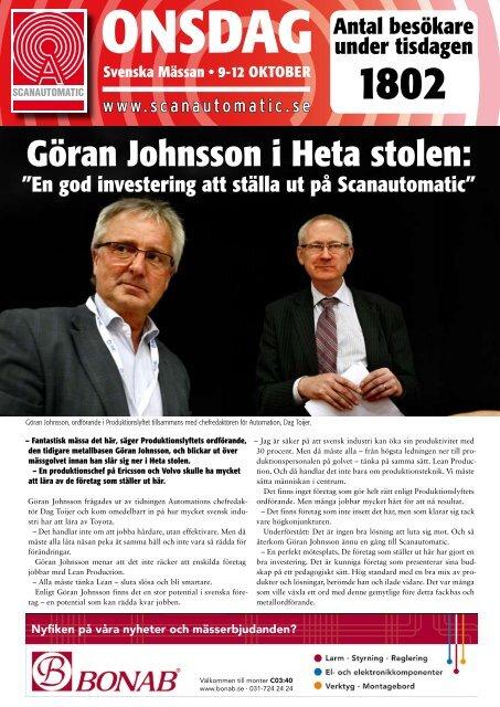 Göran Johnsson i Heta stolen: - Svenska Mässan