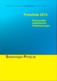 Preisliste Seite 5 / 5 - Solaranlagen-Portal.de