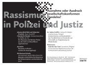 Rassismus in Polizei und Justiz - akj-berlin
