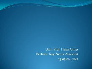 Prof. Dr. Haim Omer (PDF)