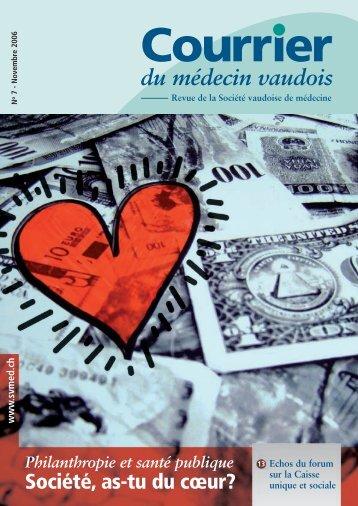 Novembre 2006 - Philantropie et santé publique - Société Vaudoise ...
