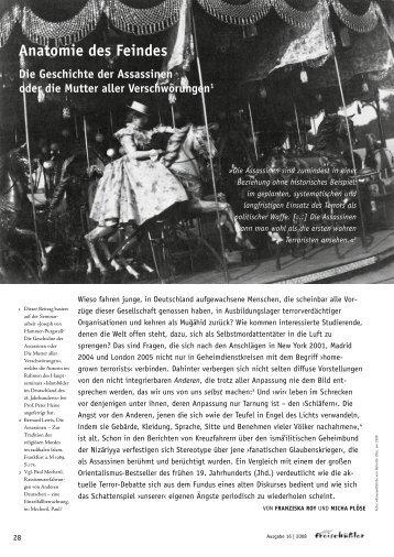 anatomie des Feindes Die Geschichte der assassinen ... - akj-berlin