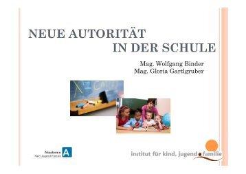 Neue Autorität in der Schule - Lebenshilfe Ennstal