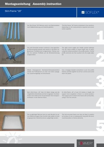 Montageanleitung Assembly instruction - Sommer Licht