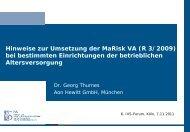 Dr. Georg Thurnes - Deutsche Aktuarvereinigung e.V.