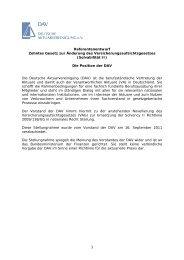 Referentenentwurf Zehntes Gesetz zur Änderung - Deutsche ...