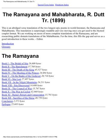 The Ramayana and Mahabharata, R. Dutt Tr. (1899) - Al-Qiyamah
