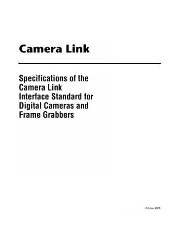 Camera Link Interface Standard Specification - Computer Modules ...