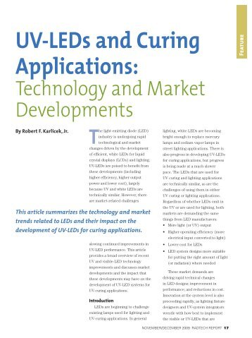 UV-LEDs and Curing Applications