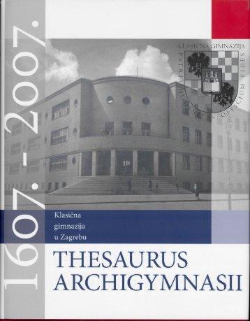Thesaurus Archigymnasii. Zbornik radova u prigodi 400 - Alan Uzelac