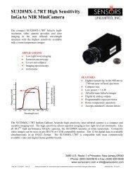 SU320MX-1.7RT High Sensitivity InGaAs NIR ... - Alacron, Inc.