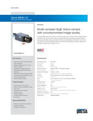 Small compact GigE Vision camera with uncompromised image ...