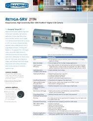 Retiga-SRV Data Sheet - Alacron, Inc.